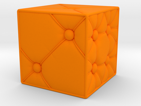 Furniture Dice D6 in Orange Strong & Flexible Polished