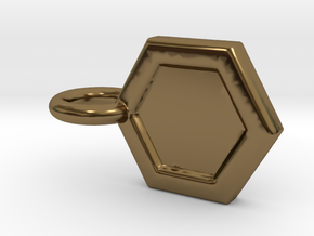 Honeycomb Charm in Polished Bronze
