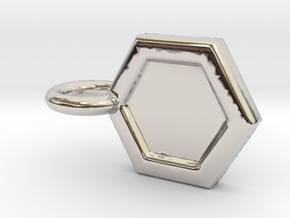 Honeycomb Charm in Platinum