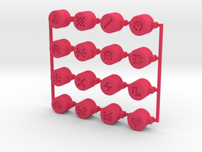 PO-20 sequencer buttons in Pink Processed Versatile Plastic