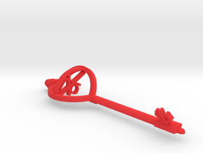 Key Of Courage in Red Processed Versatile Plastic