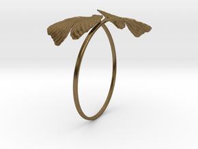 Ginkgo Bracialet in Natural Bronze