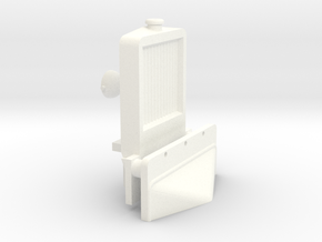 Cab Radiator (Part C-3) in White Processed Versatile Plastic