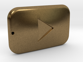 Youtube Button Keychain in Natural Bronze