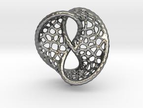 Infinity Pendant (Earrings) in Polished Silver