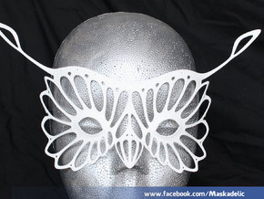 Party Mask 'Hoots' in White Strong & Flexible