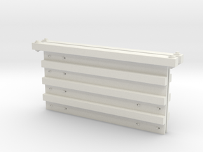 O Scale Rail Gon Ends in White Natural Versatile Plastic