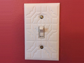 ShapeJS Light Switch in White Processed Versatile Plastic