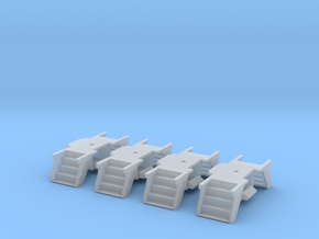 4 Pack N Scale PRR Steps for Lima/MP Cars in Frosted Extreme Detail