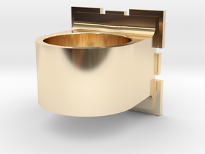 Compainion Cube Ring in 14K Yellow Gold