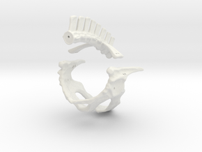 Komodo Hip Skeleton 1:5 Scale in White Strong & Flexible