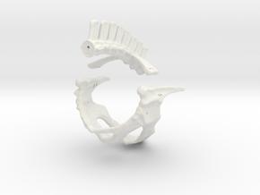 Komodo Hip Skeleton 1:5 Scale in White Natural Versatile Plastic