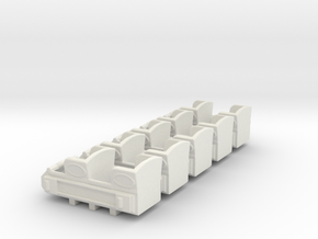 "1890""s coaster cars HO scale in White Natural Versatile Plastic"