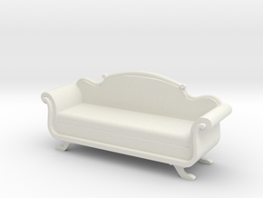 Period Sofa in White Natural Versatile Plastic