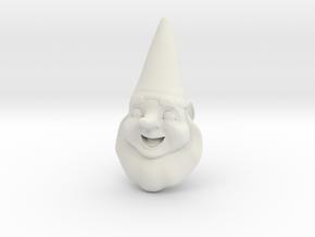 GnomeChild Head in White Natural Versatile Plastic