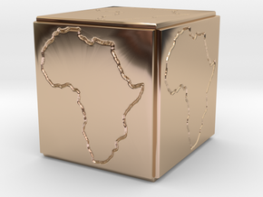 Paperweight Africa in 14k Rose Gold