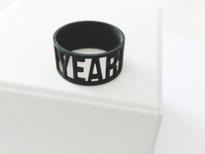 Year Ring in Black Natural Versatile Plastic