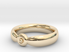 The Circumpunct Sun Ring UK Size V (US Size 10 ¾)  in 14K Yellow Gold