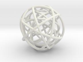 Woven Globe Pendant in White Natural Versatile Plastic