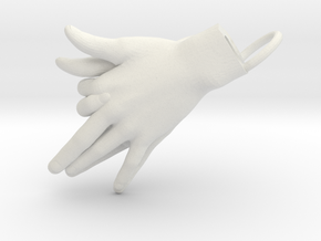 Wolf - Hand Shadows in White Natural Versatile Plastic