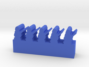 Game Piece, Infantry Line with unit bar in Blue Processed Versatile Plastic