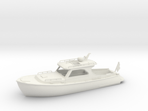 Yacht 01.HO Scale (1:87) in White Natural Versatile Plastic