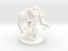 Giant Cheese Golem (60mm) in White Processed Versatile Plastic