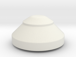 JP Upper Tank Cap in White Natural Versatile Plastic