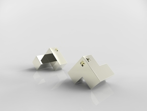 Cube Puzzle Pendant in Polished Nickel Steel