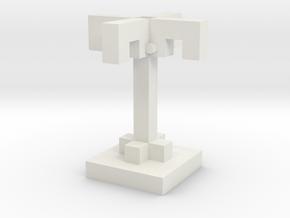Palm Tree in White Natural Versatile Plastic