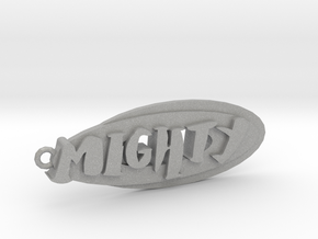 a Mighty Pendant (hand drawn) in Aluminum
