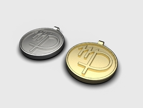 Zodiac KeyChain Medallion-VIRGO in Polished Metallic Plastic