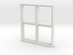 Square Window 1:55 in White Natural Versatile Plastic