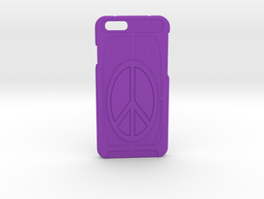 Apple iPhone6 PeaceCase  in Purple Processed Versatile Plastic