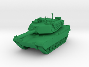 Abrams Tank Model in Green Strong & Flexible Polished