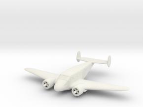 1:144 Beechcraft Model 18 in White Natural Versatile Plastic