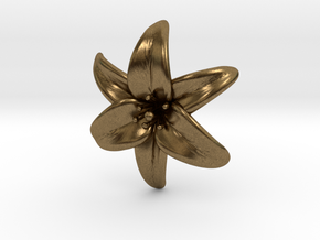Lily Blossom (small) in Natural Bronze