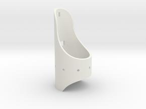 Saber 1 Emitter Shroud in White Natural Versatile Plastic
