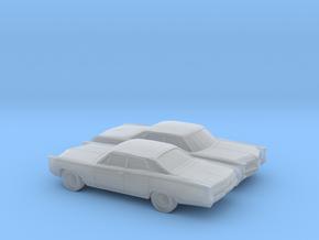 1/160 2X 1966 Pontiac Bonneville Sedan in Smooth Fine Detail Plastic