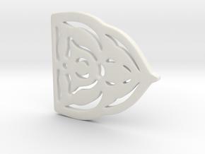 King Robert Baratheon brooch in White Natural Versatile Plastic
