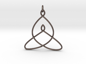 Celtic Mother-Child Bond Knot in Polished Bronzed Silver Steel