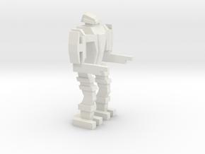 Bipedal Mech in White Strong & Flexible