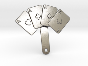 Aces Pin For Jacket in Polished Nickel Steel