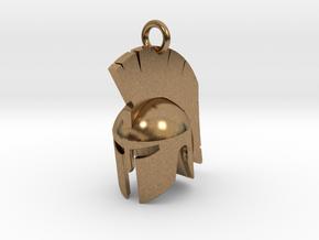 Spartan helmet keychain/pendant in Natural Brass