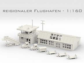 Flughafen - 1:160 (N scale) in White Strong & Flexible