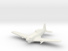 Morane-Saulnier M.S.406 in White Strong & Flexible: 1:200