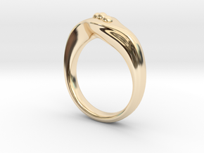 Modern style ring Size 10 in 14k Gold Plated Brass