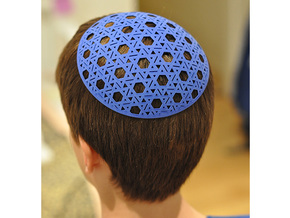 Yarmulke One in Blue Strong & Flexible Polished