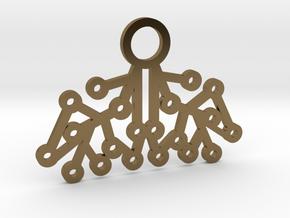Electrode Pendant in Polished Bronze