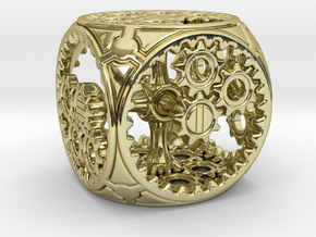 Gears Delirium I - D6 in 18k Gold